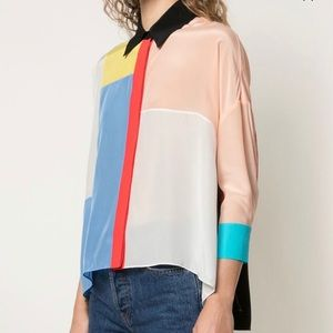 ALICE+OLIVIA colour block shirt